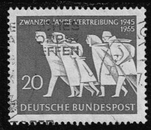 Duitsland (BRD) 1965 20 Jahre Vertreibung gestempelt Michel nr 479