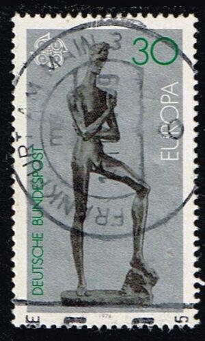 Duitsland (BRD) 1974 Europa Skulpturen gestempelt Michel nr 804