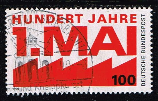 Duitsland (BRD) 1990 100 Jahre Tag der Arbeit gestempelt Michel nr 1459