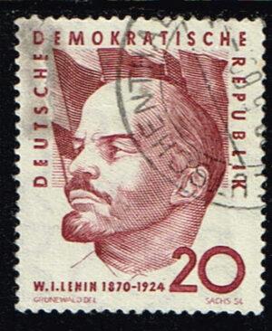 Duitsland (DDR) 1960 Geburtstag von Wladimir I. Lenin gestempelt Michel nr 762 Markenausgabe der DDR gestempelt waarde 20 pf