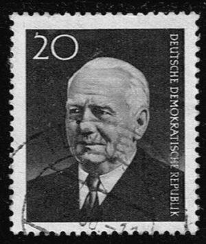 Duitsland (DDR) 1960 Tod des DDR Präsidenten Wilhelm Pieck gestempelt Michel nr 784A
