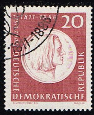 Duitsland (DDR) 1961 150 Geburtstag Franz Liszt gestempelt Michel nr 859