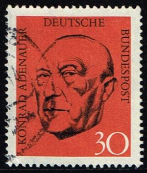 Deuitsland (BRD) 1968 1 Todestag Adenauer gestempelt Michel nr 567