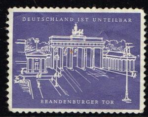 Duitsland (BRD) 1946 Verschlußmark Deutschland ist unteilbar