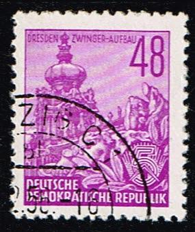 Duitsland (DDR) 1953 Freimarke Fünfjahresplan gestempelt Michel nr 376