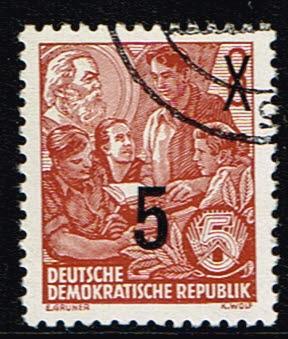 Duitsland (DDR) 1954 Freimarke Fünfjahresplan gestempelt Michel nr 436