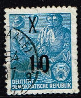 Duitsland (DDR) 1954 Freimarke Fünfjahresplan gestempelt Michel nr 437