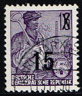 Duitsland (DDR) 1954 Freimarke Fünfjahresplan gestempelt Michel nr 438