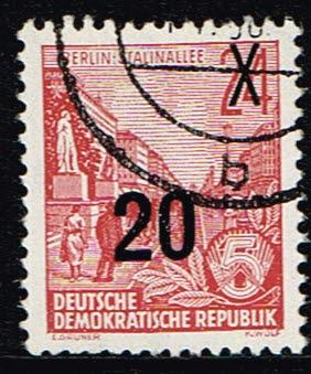 Duitsland (DDR) 1954 Freimarke Fünfjahresplan gestempelt Michel nr 439