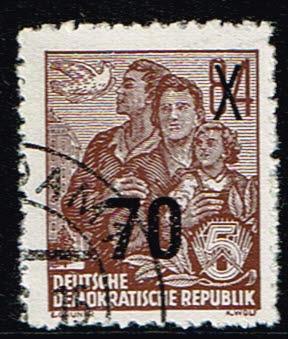 Duitsland (DDR) 1954 Freimarke Fünfjahresplan gestempelt Michel nr 442
