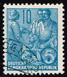 Duitsland (DDR) 1955 Freimarke Fünfjahresplan gestempelt Michel nr 453