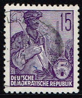 Duitsland (DDR) 1955 Freimarke Fünfjahresplan gestempelt Michel nr 454