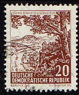Duitsland (DDR) 1961 Landschaften historische Bauten gestempelt Michel nr 815