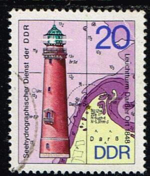 Duitsland (DDR) 1974 Leuchtturme gestempelt Michel nr 1955