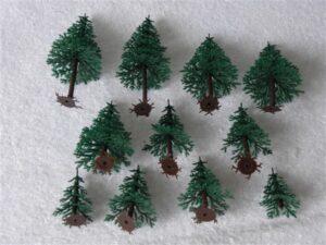 Piko H0 55743 Dennenbomen 11 stuks 4.5-9 cm hoog