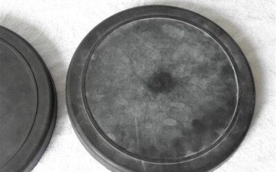 2 stuks 7 inch oefenpads Rubber merk onbekend