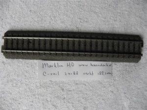 Märklin H0 24188 C-rails Rechte rail 188.3 mm