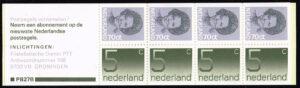 Nederland 1985 postzegelboekje PB 27b 4 x 5 ct cijfer Crouwel + 4 x 70 ct Beatrix