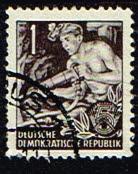 Duitsland (DDR) 1953-1959 Freimarken gestempelt 1 pf Michel nr 362