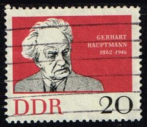 Duitsland (DDR) 1962 Geburtstag Gerhart Hauptmann gestempelt Michel nr 925
