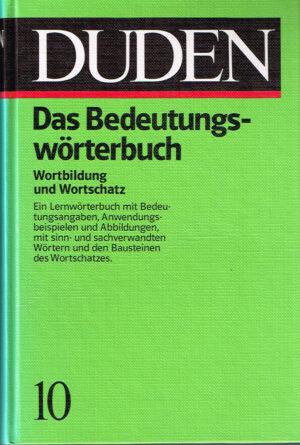 Duden Das Bedeutungsworterbuch ISBN 3411209119