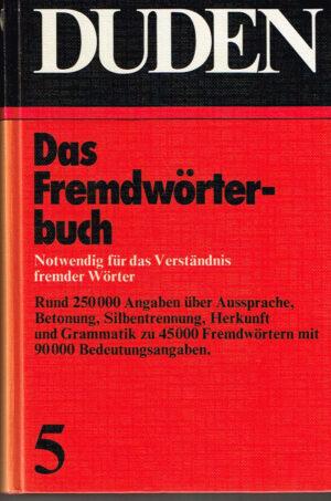 Duden Das Fremdwörterbuch ISBN 3411009152