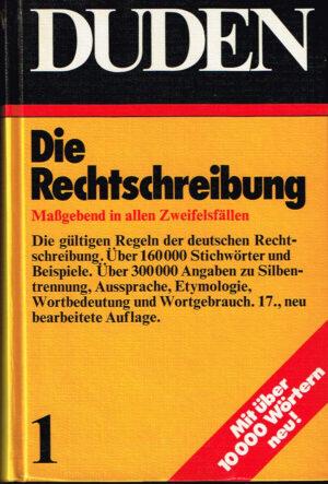 Duden Die Rechtschreibung band 1 ISBN 3411009X