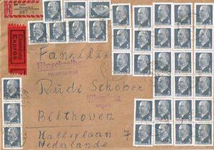 Duitsland (DDR) 1961 Freimarken Walter Ulbricht gestempelt Michel nr 845