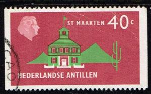 Ned. Antillen 1977 Koningin Juliana St Maarten gestempeld NVPH 561