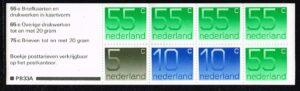 Nederland 1986 cijfer Crouwel postzegelboekje PB33a