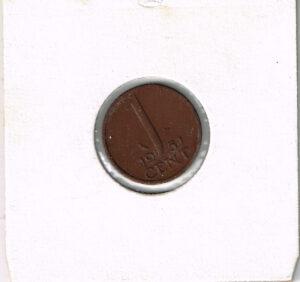 Koninkrijksmunten Nederland 1951 koningin Juliana 1 cent