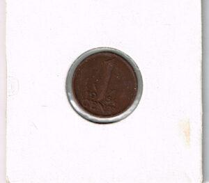 Koninkrijksmunten Nederland 1954 koningin Juliana 1 cent