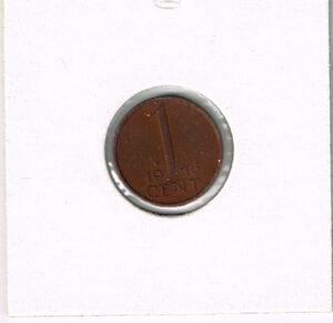 Koninkrijksmunten Nederland 1956 koningin Juliana 1 cent