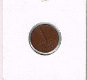 Koninkrijksmunten Nederland 1963 koningin Juliana 1 cent