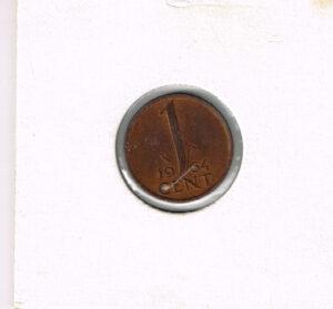 Koninkrijksmunten Nederland 1964 koningin Juliana 1 cent