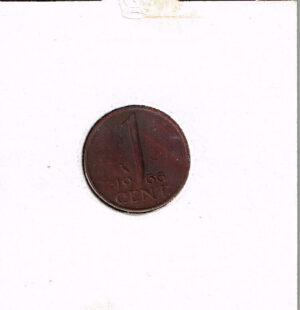 Koninkrijksmunten Nederland 1966 koningin Juliana 1 cent