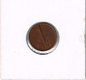 Koninkrijksmunten Nederland 1967 koningin Juliana 1 cent