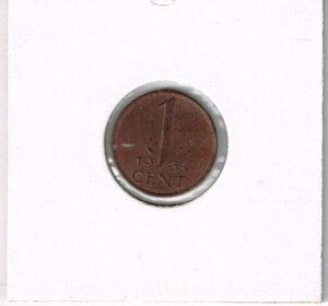 Koninkrijksmunten Nederland 1968 koningin Juliana 1 cent