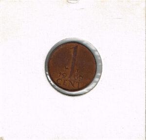 Koninkrijksmunten Nederland 1969 koningin Juliana 1 cent haan