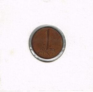 Koninkrijksmunten Nederland 1970 koningin Juliana 1 cent