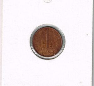 Koninkrijksmunten Nederland 1972 koningin Juliana 1 cent