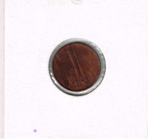 Koninkrijksmunten Nederland 1973 koningin Juliana 1 cent