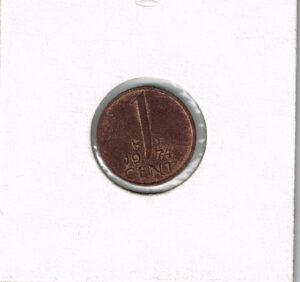 Koninkrijksmunten Nederland 1974 koningin Juliana 1 cent
