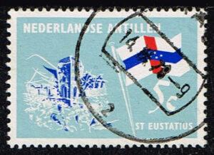 Ned Antillen 1965 Eilanden St Eustatius gestempeld NVPH 362