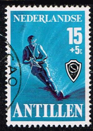 Ned Antillen 1978 Sport Waterskiën gestempeld NVPH 576