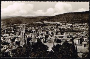 Ansichtkaart Duitsland Marburg an der Lahn Lahn und Elisabethkirche rond 1960 K58
