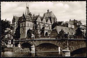 Ansichtkaart Duitsland Marburg an der Lahn Universiteit rond 1960