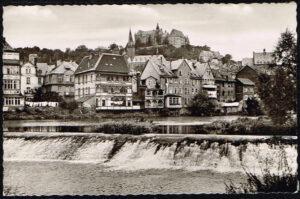 Ansichtkaart Duitsland Marburg an der Lahn Am Lahnwehr B2