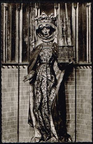 Ansichtkaart Duitsland Marburg an der Lahn Elisabethkirche St. Elisabeth