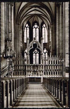 Ansichtkaart Duitsland Marburg an der Lahn Elisabethkirche blick zum Altar
